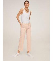 mid-waist culotte-jeans