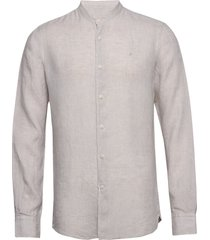 nicolas band collar shirt overhemd casual grijs morris