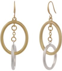 the sak couble ring drop earrings