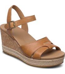 cloverdale sandalette med klack espadrilles brun ugg