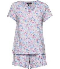 lrl sjort sl. split neckline boxer pj pyjamas multi/mönstrad lauren ralph lauren homewear