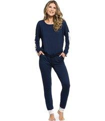 pijama inspirate de inverno azul marinho