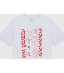 camiseta blanco-coral reebok vector graphic