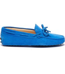 'gommini' tie suede kids driving shoes