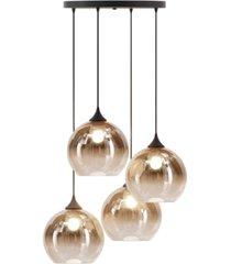 ink+ivy mandal brass & glass pendants