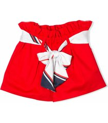 msgm red shorts