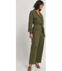 hoss x na-kd utilityjumpsuit - green