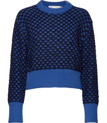 ettaiw pullover gebreide trui blauw inwear
