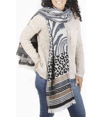 bufanda marrón spiga 31 animal print