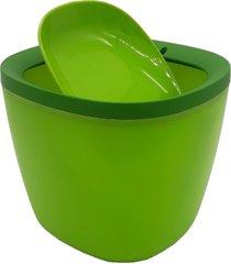 lixeira basculante para pia lavabo escritã³rios em plastico - verde - dafiti