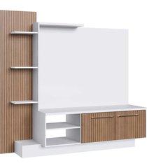 estante com painel tv 52 pol. 2 portas branco/milano decibal moveis - branco - dafiti