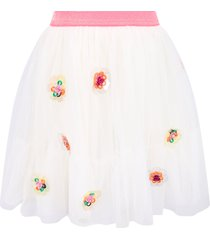 billieblush white skirt for girl with colorful flowers