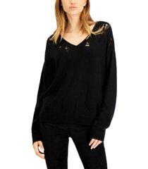 bar iii destructed sweater, created for macy's