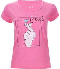 camiseta descanso clich color rosado, talla l