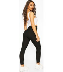 booty enhancing ribbed legging, black