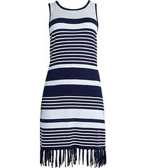 fringed striped dress