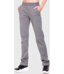 pantalón de buzo everlast supreme gris - calce regular