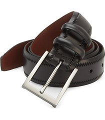 collection leather zig-zag trim belt