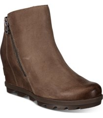 sorel women's joan of arctic wedge zip booties women's shoes