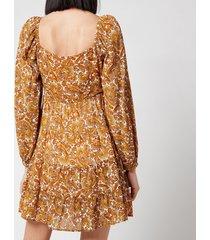 faithful the brand women's indira mini dress - la medina paisley print - l