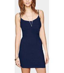 cami azul oscuro bodycon mini vestido