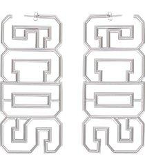 gcds earrings with logo