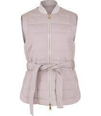 reversible quilted taffeta vest