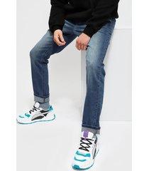 jeans ellus slim tiro medio full proceso azul - calce slim fit