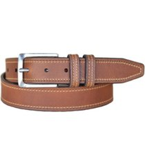 lejon men's wrigley oil tanned harness leather casual jean belt