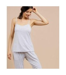 pijama marisa alças finas feminino
