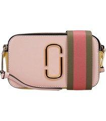 marc jacobs shoulder bag in rose-pink leather