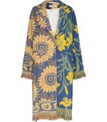 rave review livia vintage blanket coat - blue