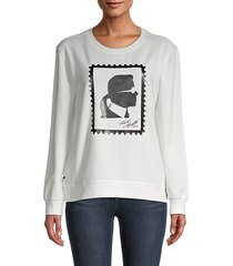 silhouette stamp graphic sweatshirt