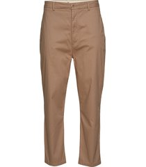 bob cropped chino pant chino broek beige knowledge cotton apparel