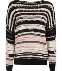 ermanno scervino stripe knit sweater