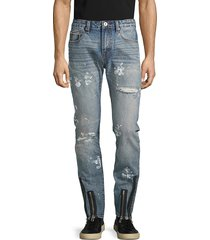 cult of individuality men's rockabilly slim distressed jeans - shiro - size 30