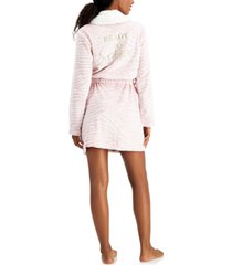 jenni short 'ready to snooze' cozy robe, created for macy's