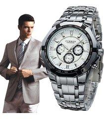 casual negocio relojes hombre curren reloj del cuarzo