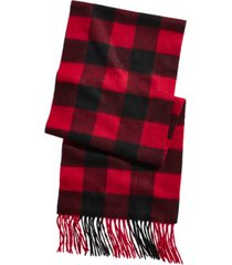 club room men's plaid cashmere scarf, created for macy's