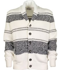 brunello cucinelli button-front cardigan