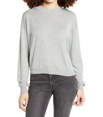 women's bp. easy drop shoulder sweater, size x-large - grey