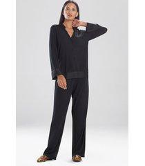 jersey essentials silk sleepwear pajamas & loungewear, women's, 100% silk, size s, josie natori