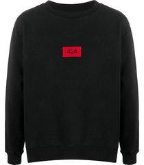 424 embroidered logo cotton sweatshirt - black
