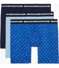 tommy hilfiger men's comfort + boxer brief 3pk navy blazer/nautical blue/aquamarine - xxl