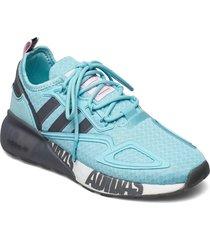 zx 2k boost w låga sneakers blå adidas originals