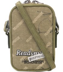 readymade mini logo messenger pouch - green