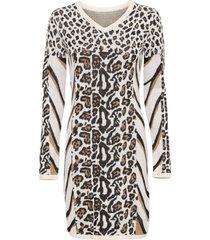 abito in maglia animalier (beige) - bodyflirt boutique
