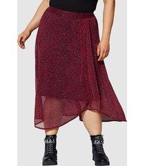 kjol angel of style röd::svart::grå