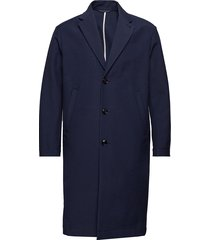 m. luke cotton coat wollen jas lange jas blauw filippa k