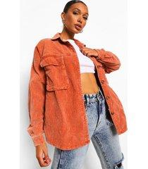 gebleekte oversized corduroy blouse, coral